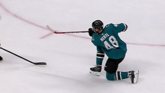 Hertl scores in Sharks' win over Flames