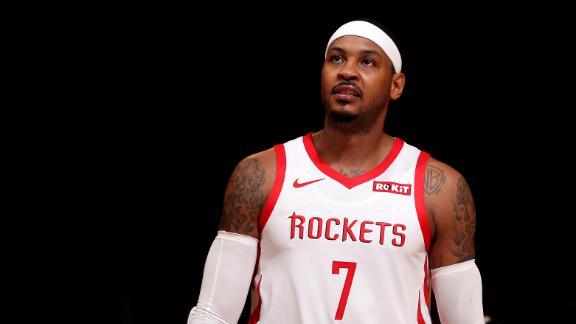 Melo scores 28 as Rockets top Nets