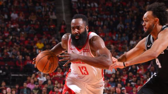 Harden cooks Spurs for 40 points