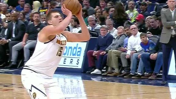 Jokic displays the turn-around jumper