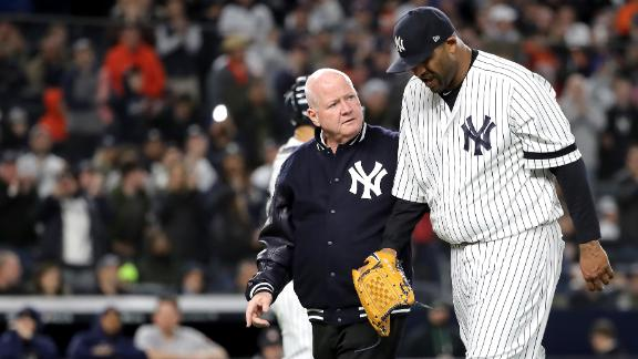 CC showered with applause in emotional injury exit