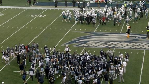 Coastal Carolina, GA Southern players get penalties for dance off