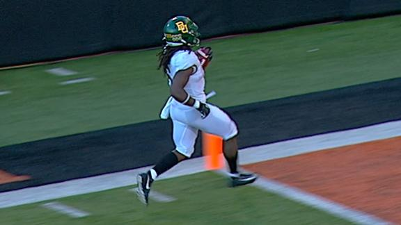 Hasty blazes his way to 73-yard Baylor TD