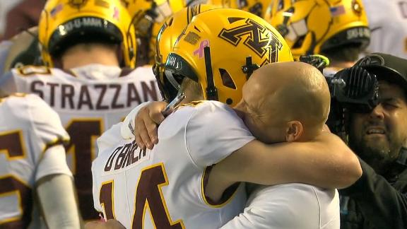 Cancer survivor O'Brien gets into first Minnesota game