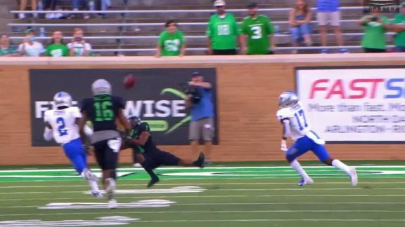 Great catch leads to winning field goal for North Texas
