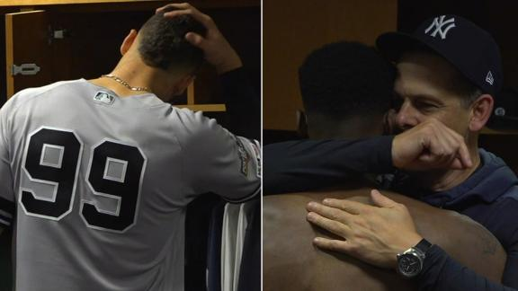 Yankees locker room hugs it out after Game 6 loss