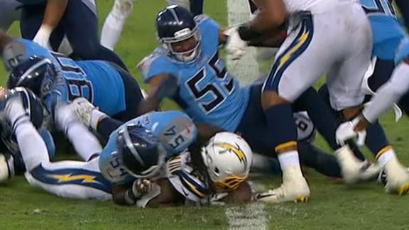 Titans stop Chargers 3 times in final moments of game