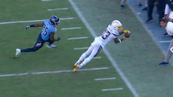 Chargers make 3 incredible sideline grabs in 1 drive