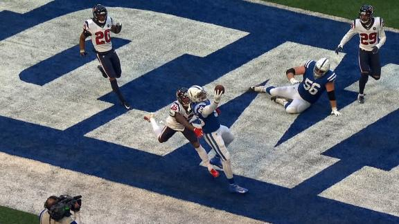 Ebron gets both feet down for the terrific TD