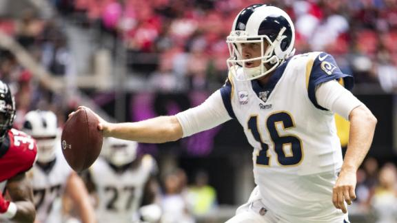 Goff accounts for 3 total TDs in Rams' win over Falcons