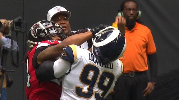 Freeman ejected for punching Donald