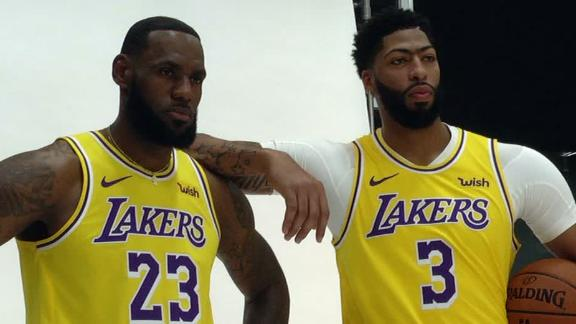 LeBron, AD, Lakers early favorite to win title