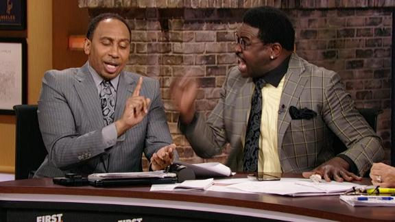 Irvin gets heated defending the Cowboys to Stephen A.