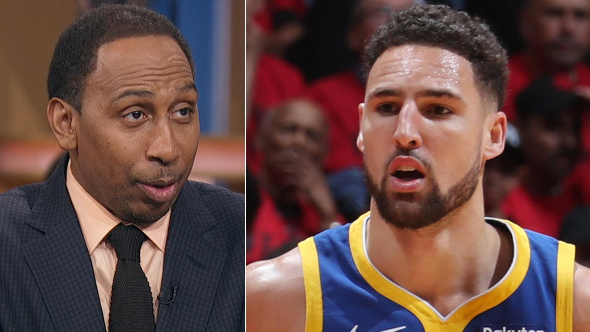 Stephen A. not buying Thompson being out for the year