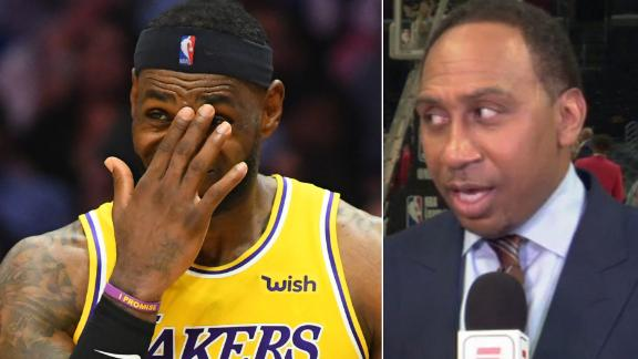 Stephen A.: LeBron didn't look right in Lakers' loss