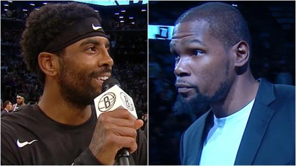 KD, Kyrie introduced at Barclays