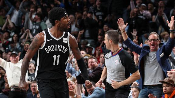 Kyrie sets Nets record with 50 points in debut