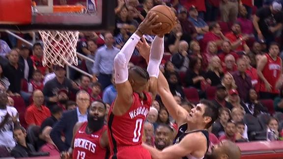 Harden finds Westbrook for emphatic stuff