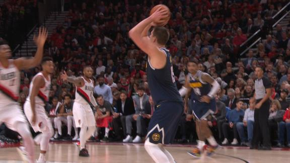 Jokic drains back-to-back 3s