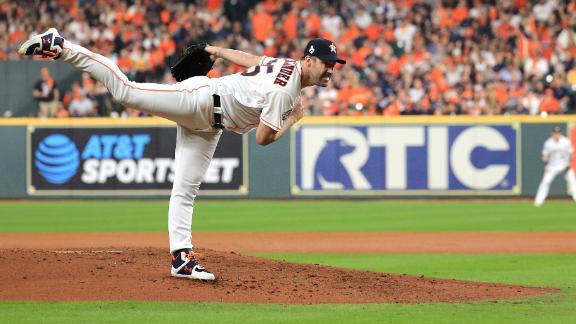 Verlander notches 200th postseason K to make MLB history
