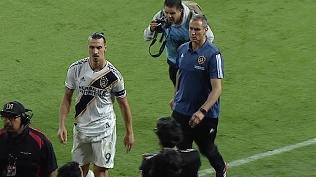 Zlatan's crude parting gesture to LAFC fans
