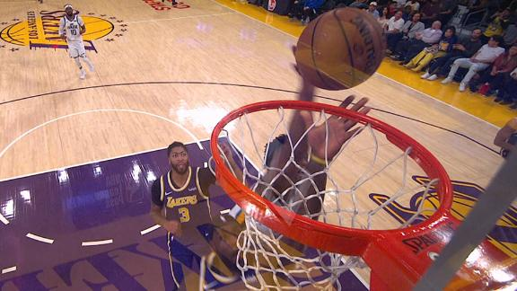 Mitchell gives LeBron taste of his own medicine with block
