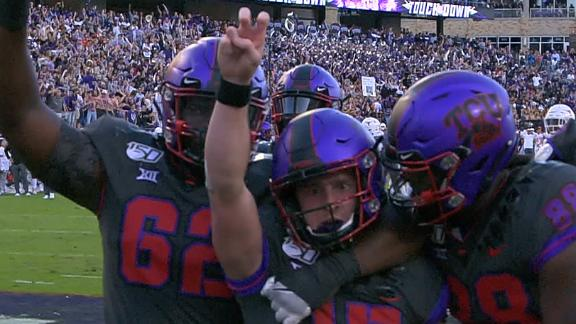 TCU's Duggan ices upset of Texas with rush TD
