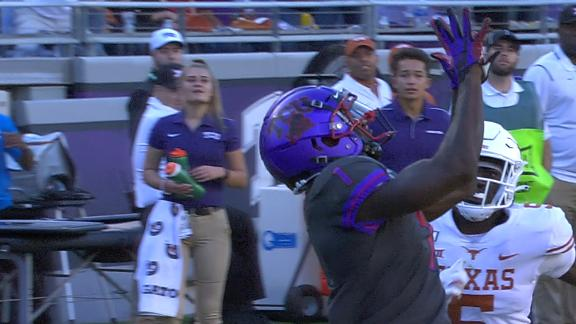 Duggan airs it out to Reagor for long TCU TD