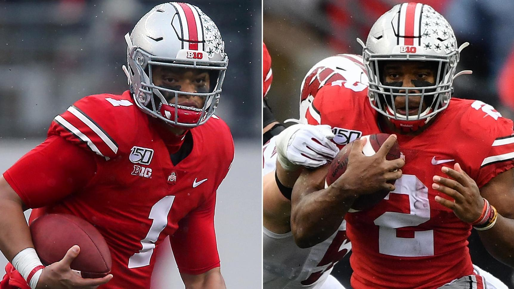 Fields, Dobbins show out in Buckeyes' win over the Badgers