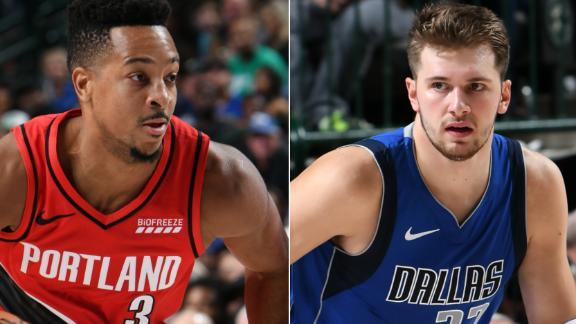 McCollum outduels Doncic in close win