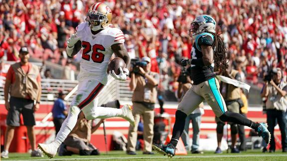 Coleman scores 4 TDs in blowout vs. Panthers
