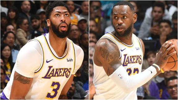 AD and LeBron drop double-doubles in win vs. Hornets
