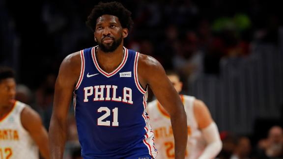 Embiid puts 76ers on his back in Atlanta