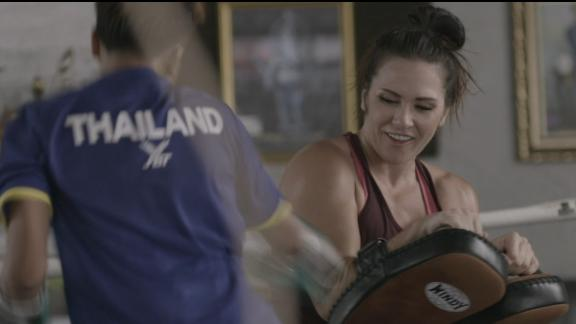 Zingano sees herself in young Thai fighters