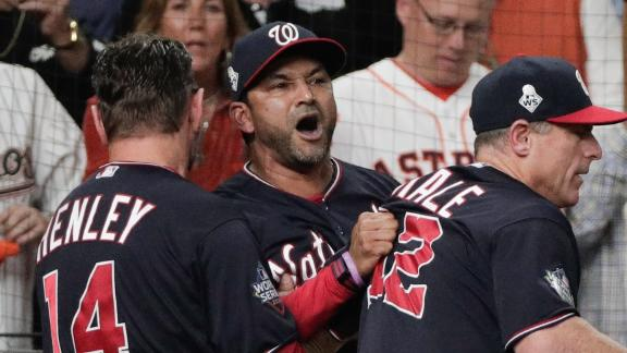 Controversial seventh inning includes clutch homer, Dave Martinez ejection
