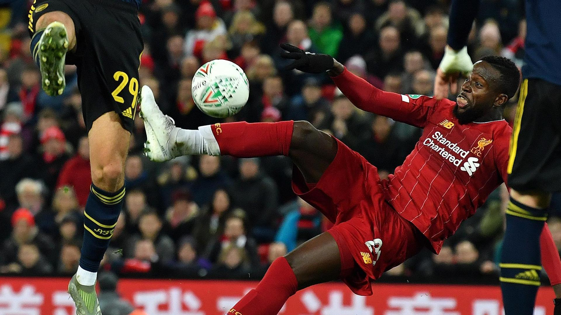 Origi's superb volley sends Liverpool to pens vs. Arsenal
