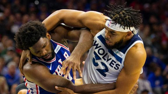 NBA suspends Embiid, Towns for two games each