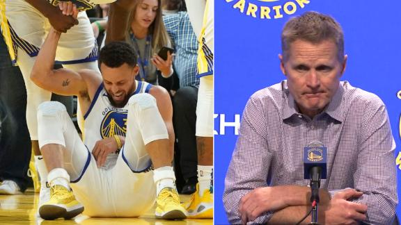 Kerr addresses media about Curry's broken hand