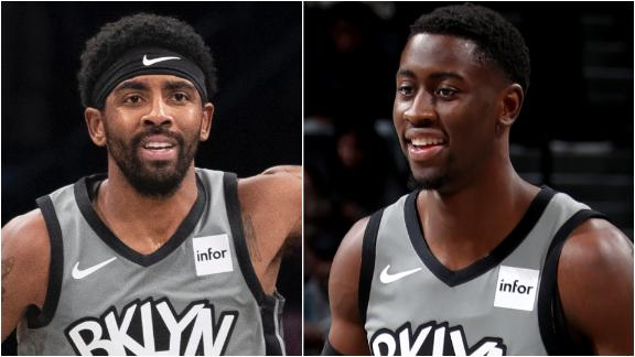 Kyrie, LeVert fuel Nets to win over Rockets