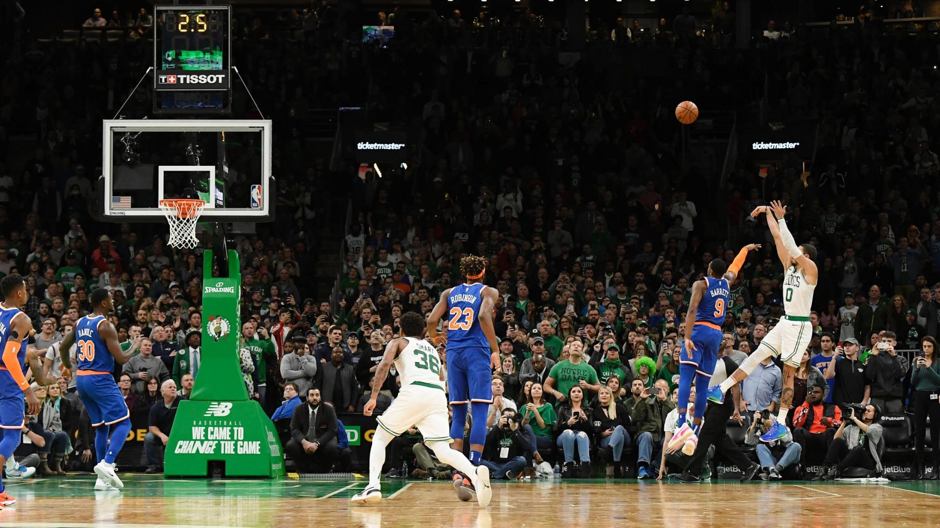 Tatum drills winning shot vs. Knicks
