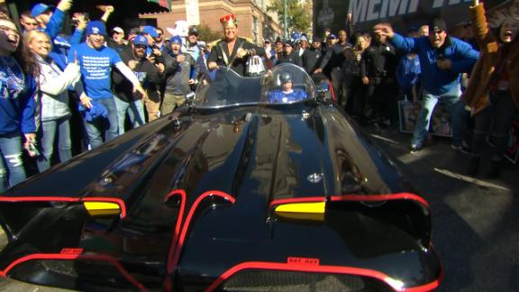 Lawler rolls into College GameDay in Batmobile
