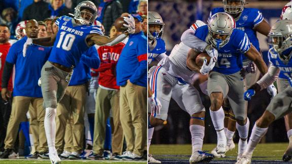 Memphis' Gibson, Coxie combine for 531 total yards vs. SMU