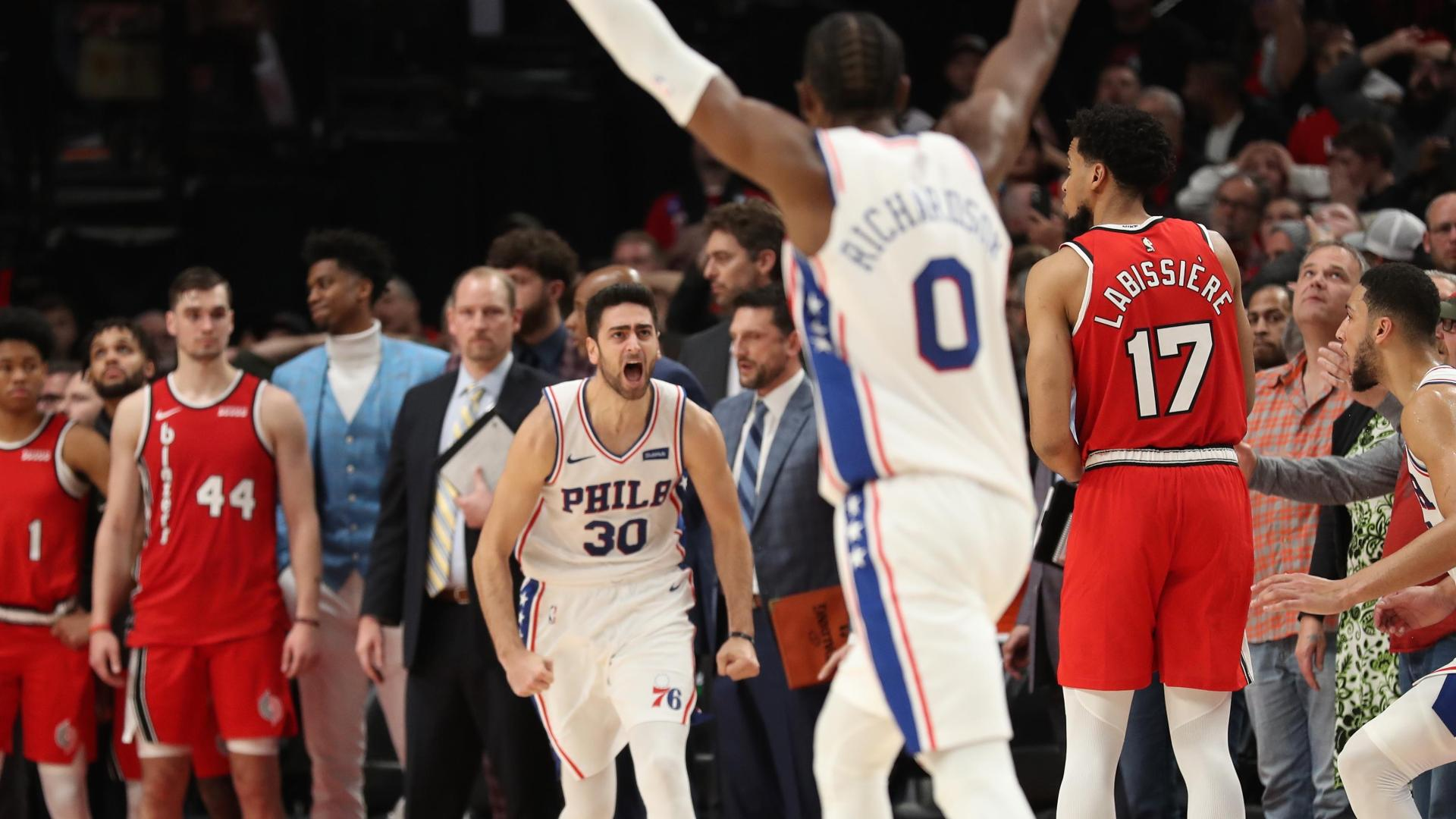 Korkmaz hits corner 3 to win it for 76ers