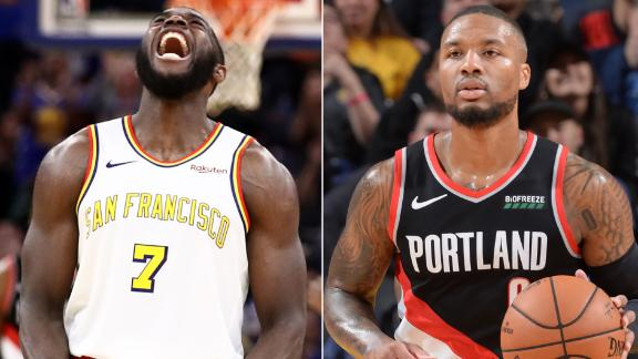 Paschall leads Warriors past Lillard and the Blazers
