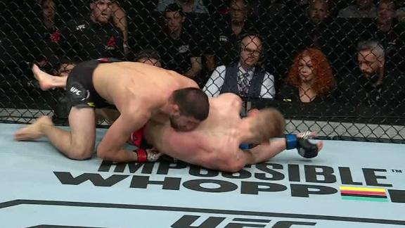 Khabilov gets multiple takedowns of Khandozhko in Round 2