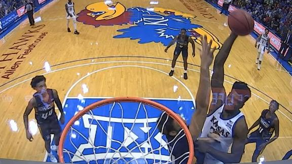 Kansas' Azubuike bodies defender on poster dunk