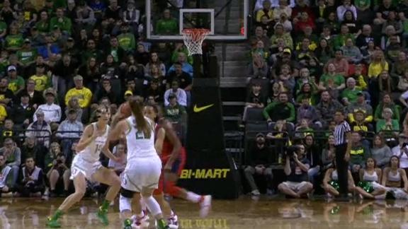 Ionescu pulls up and hits from way downtown