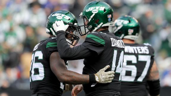 Darnold, Crowder and Bell score TDs in Jets' win over Giants