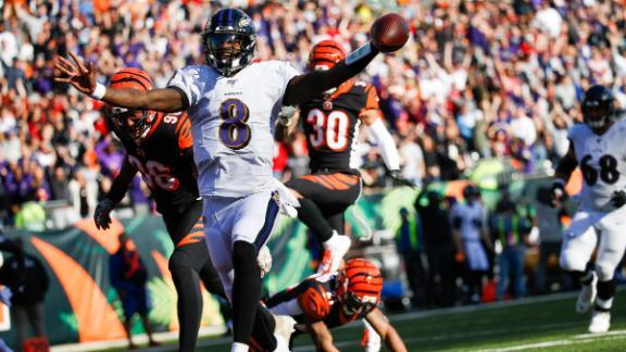 Jackson's 4 TDs lead Ravens over Bengals