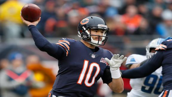 Trubisky throws for 3 TDs in win over Lions